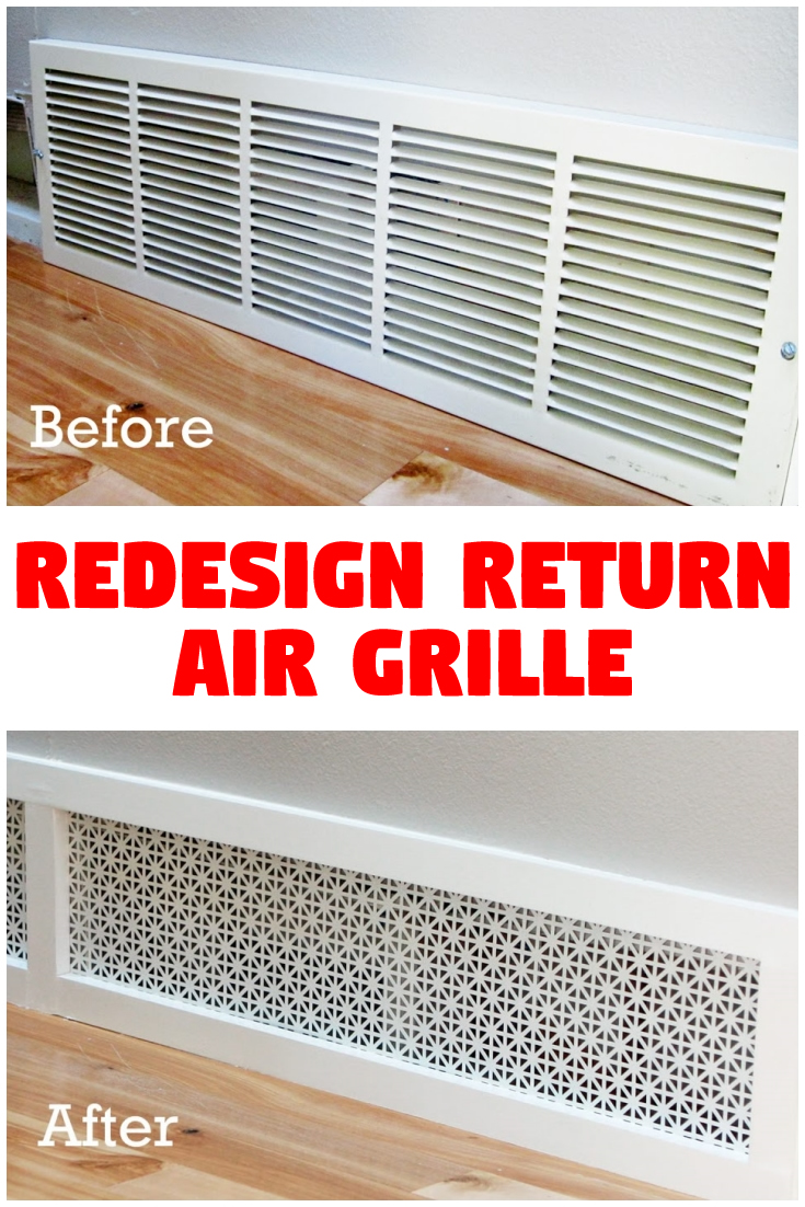Redesign return air grille