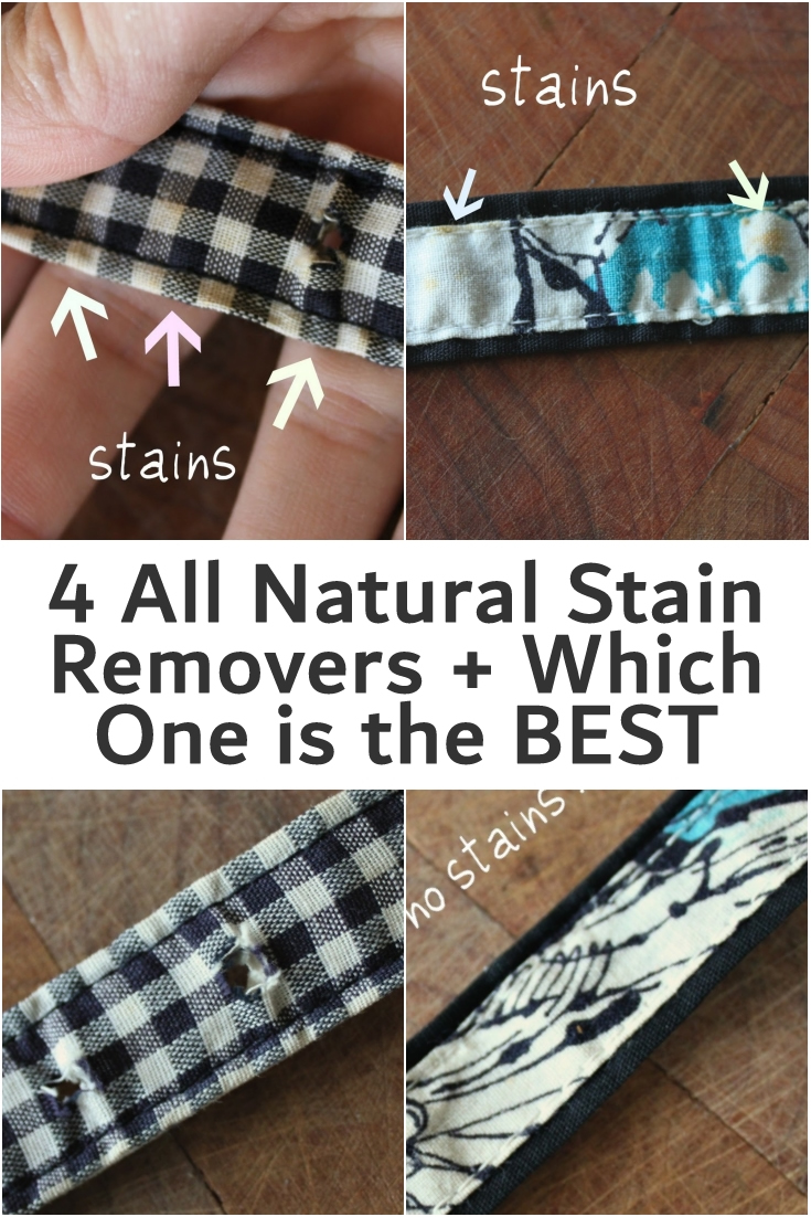 4 All Natural Stain Removers + Which One is the BEST