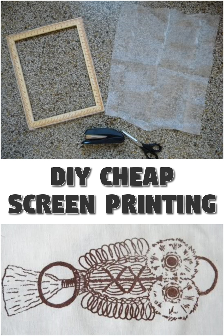 DIY Cheap Screen Printing