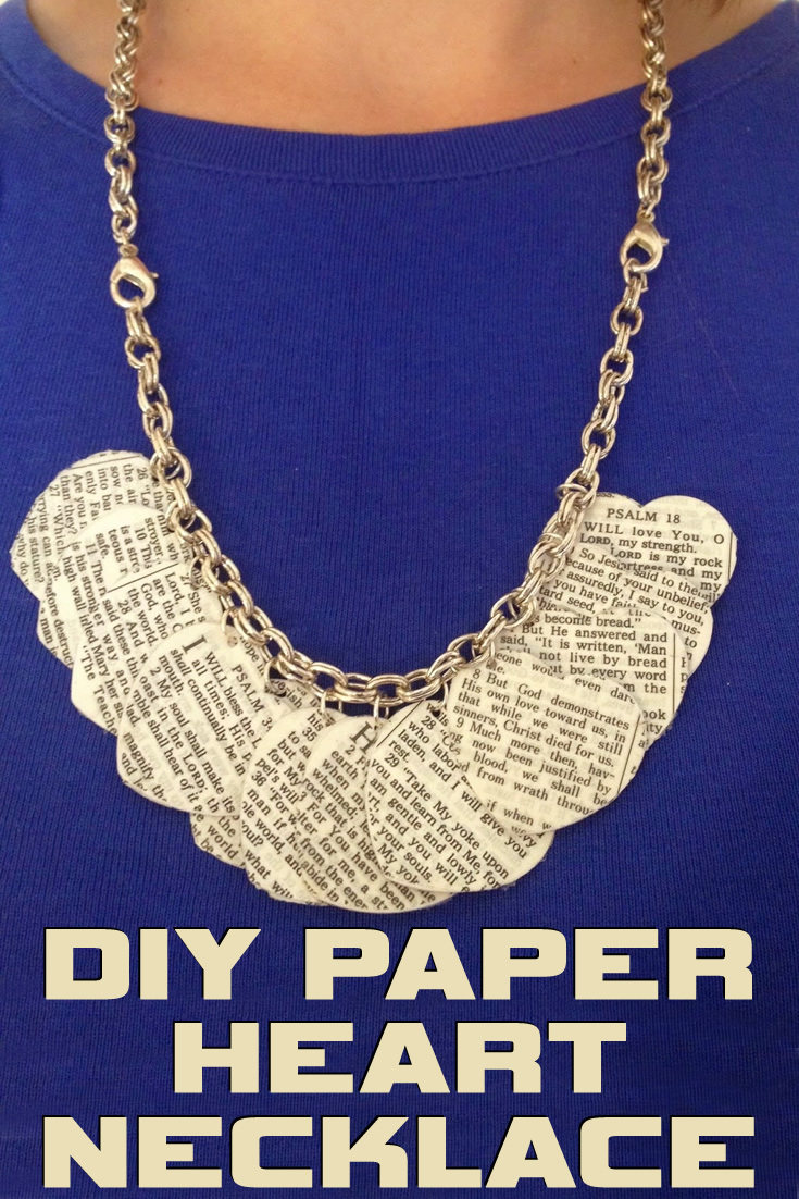 DIY Paper Heart Necklace