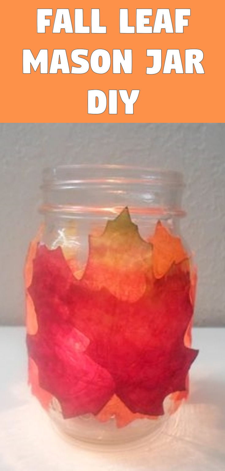 Fall Leaf Mason Jar DIY