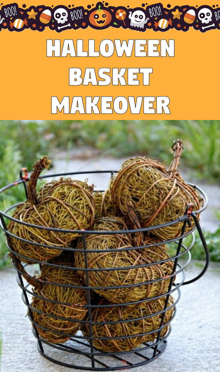Halloween Basket Makeover
