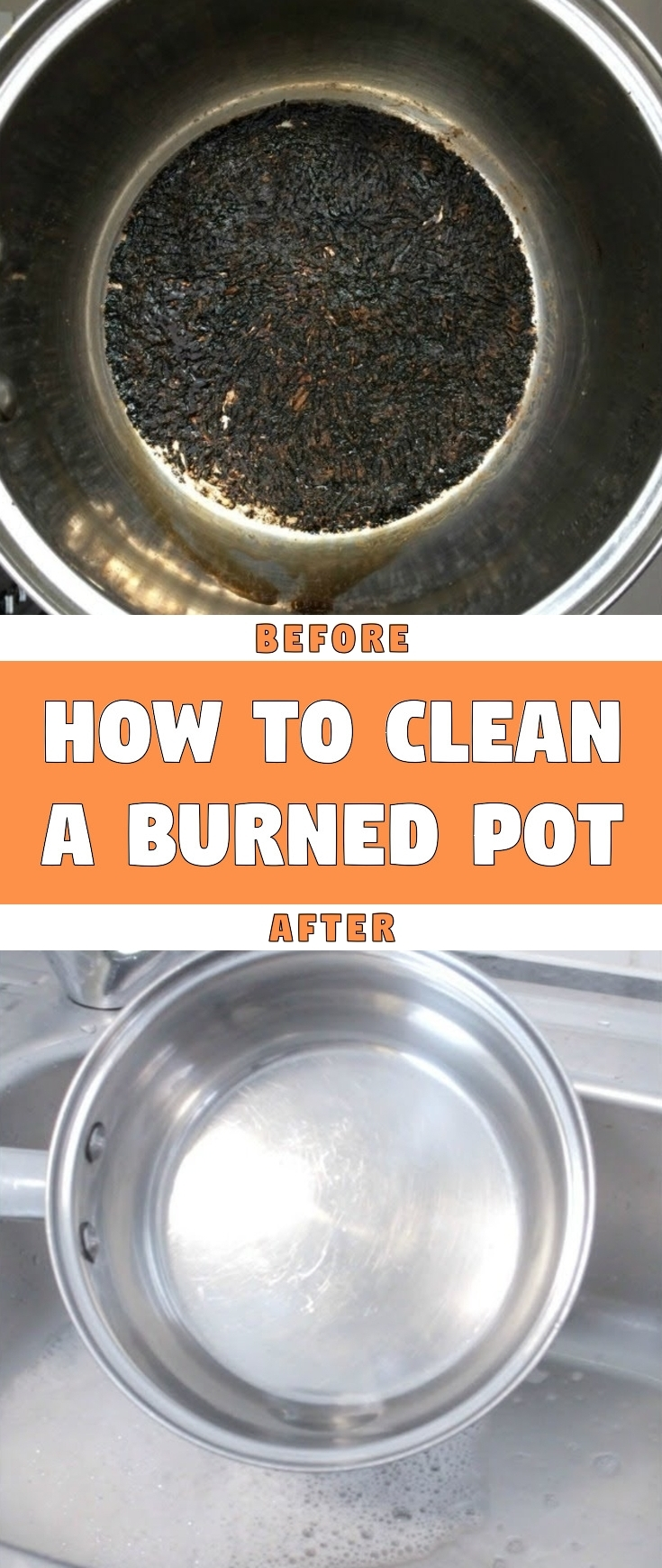 How to clean a burned pot