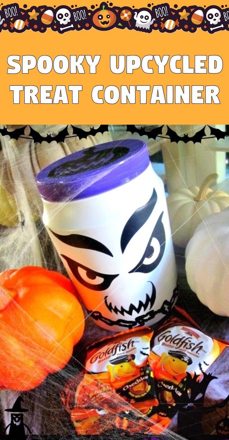 Spooky Upcycled Treat Container