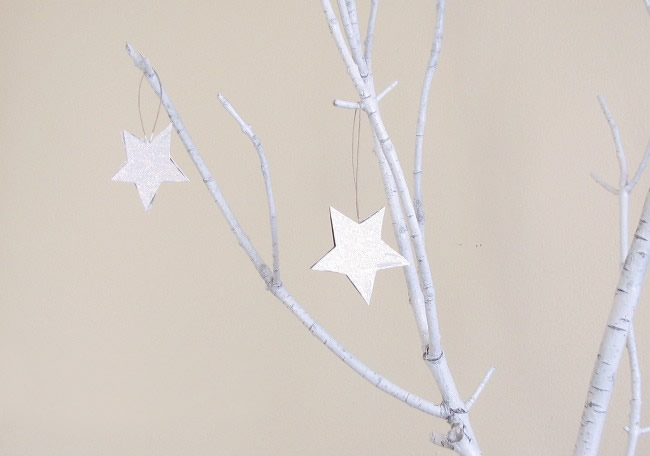 Glitter Christmas tree star ornament