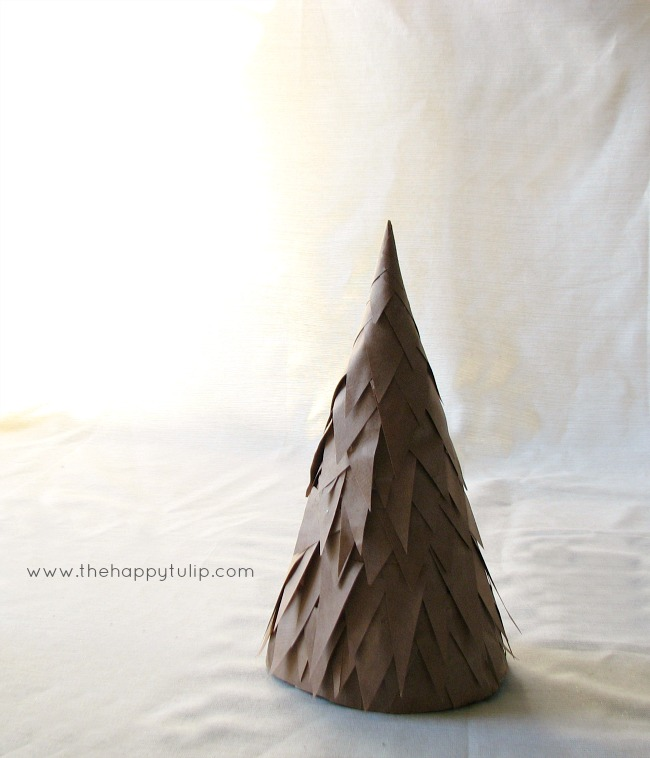 DIY paper cone Christmas tree