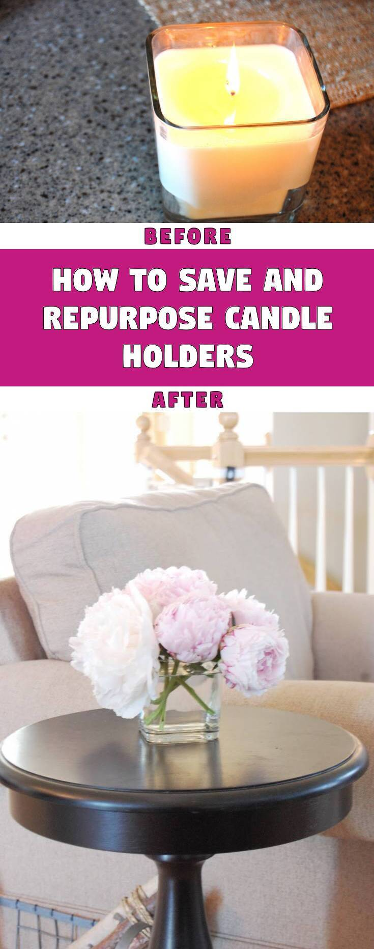 How to save and repurpose candle holders