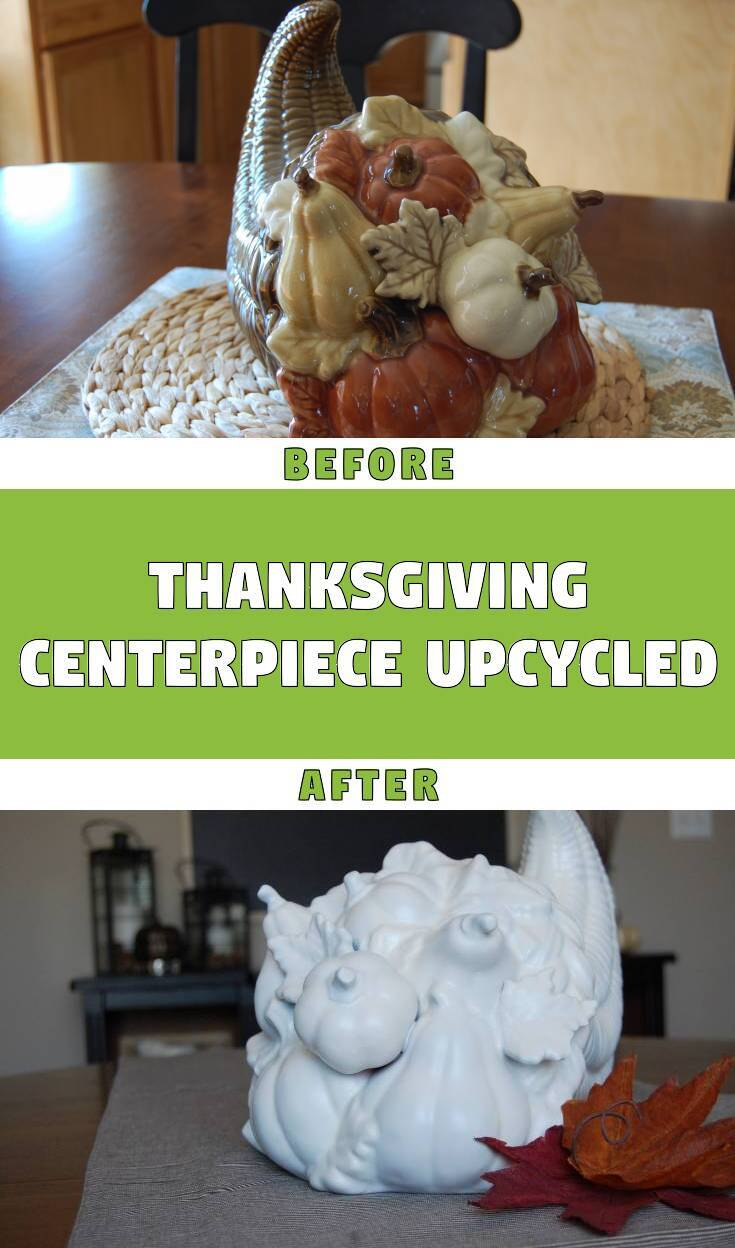 Thanksgiving centerpiece upcycled