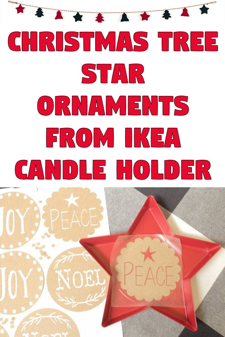 Christmas tree star ornaments from Ikea candle holder