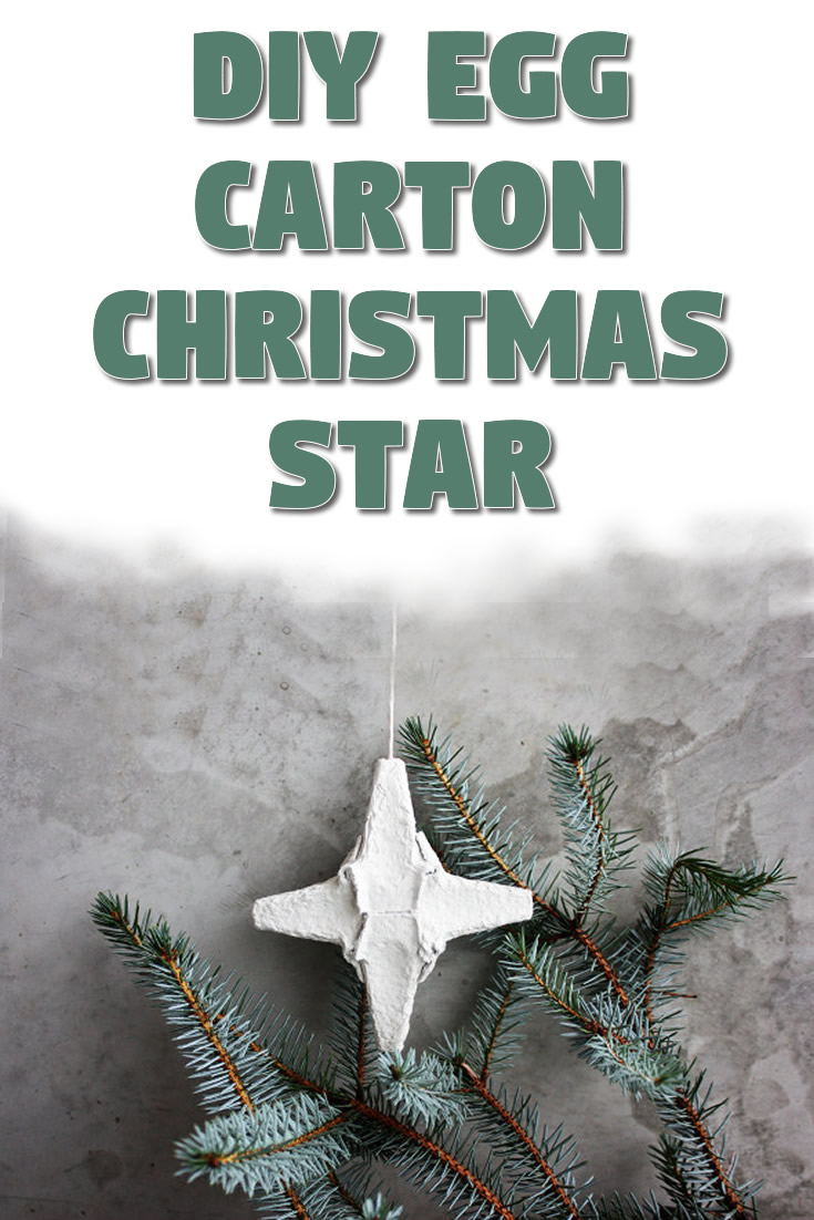 DIY egg carton Christmas star