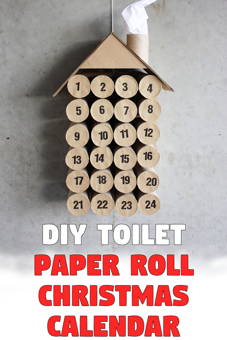 DIY Toilet Paper Roll Christmas Calendar