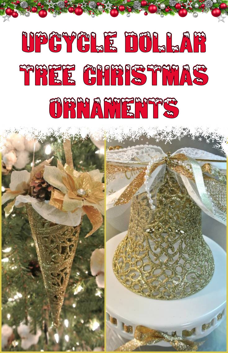 Upcycle Dollar tree Christmas ornaments