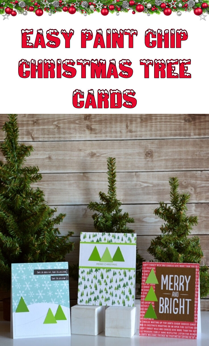 Easy DIY paint chip Christmas cards