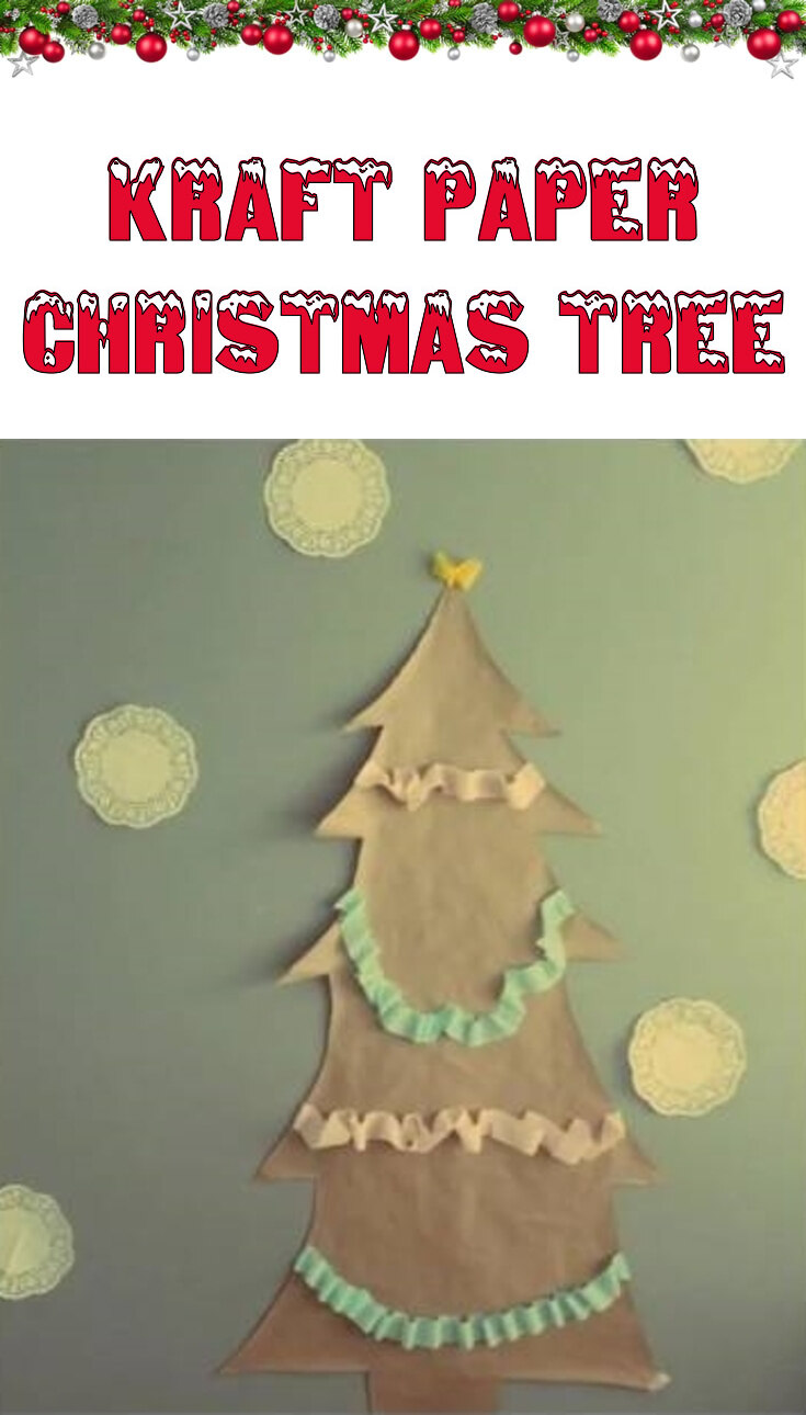 Kraft paper Christmas tree