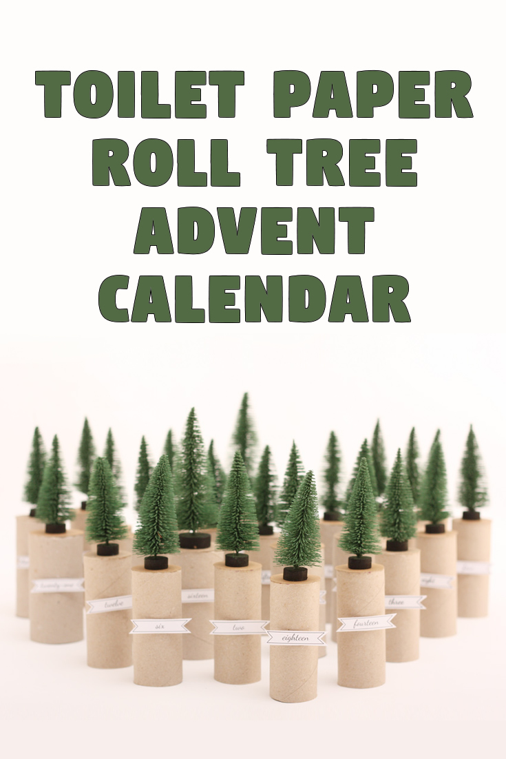 Toilet paper roll tree advent calendar
