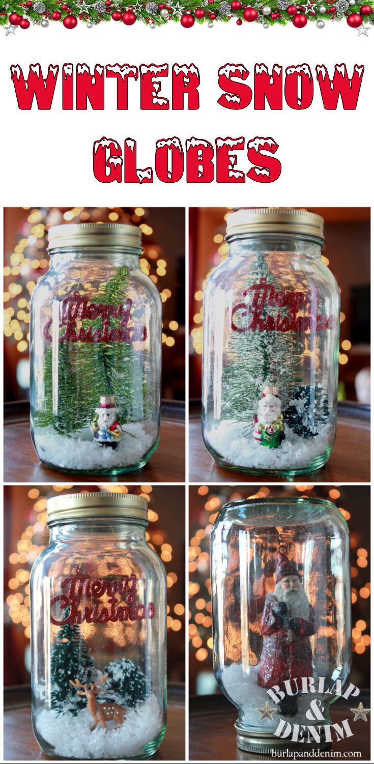 DIY Winter snow globes