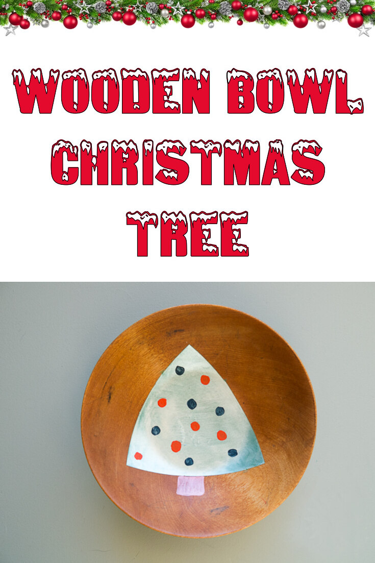 Wooden bowl Christmas tree