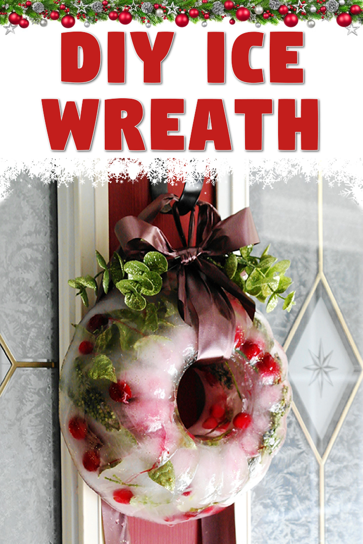 DIY ice wreath