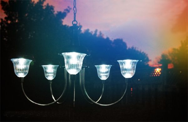 How to make a solar chandelier