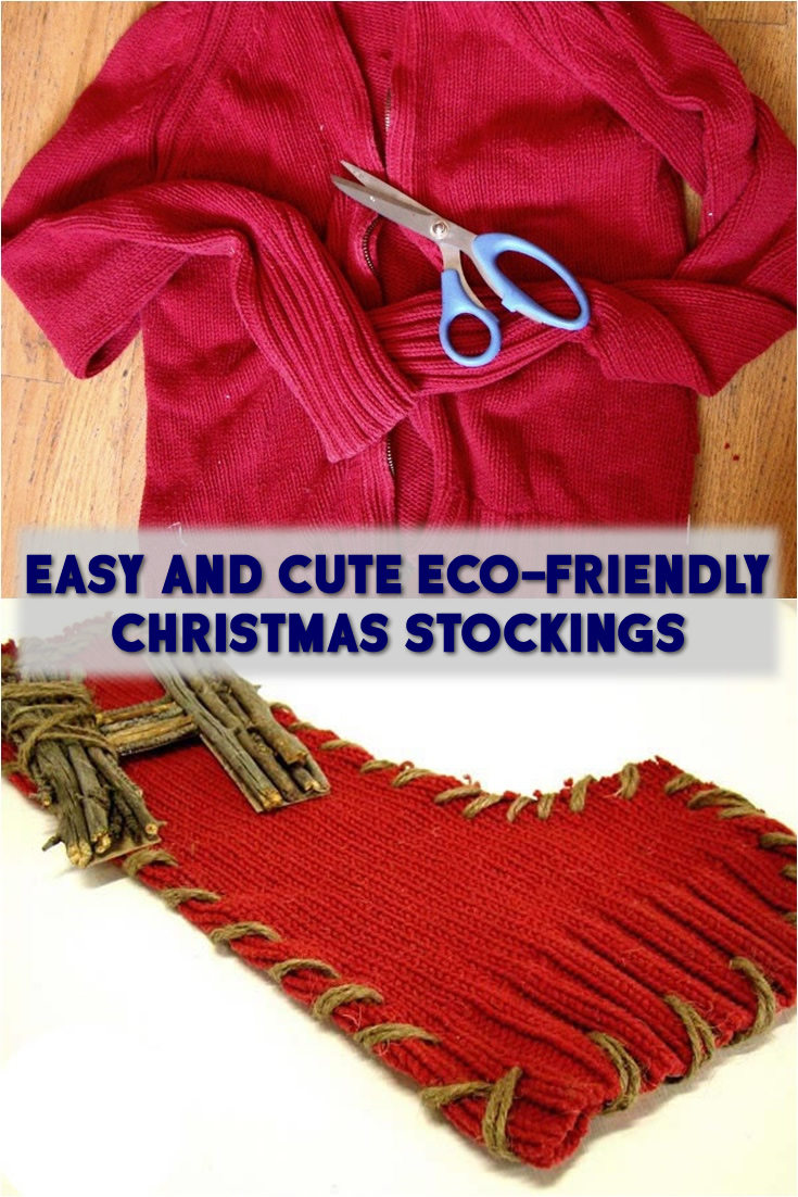 Easy and Cute Eco-Friendly Christmas Stockings