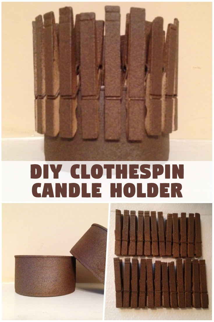 DIY Clothespin Candle Holder