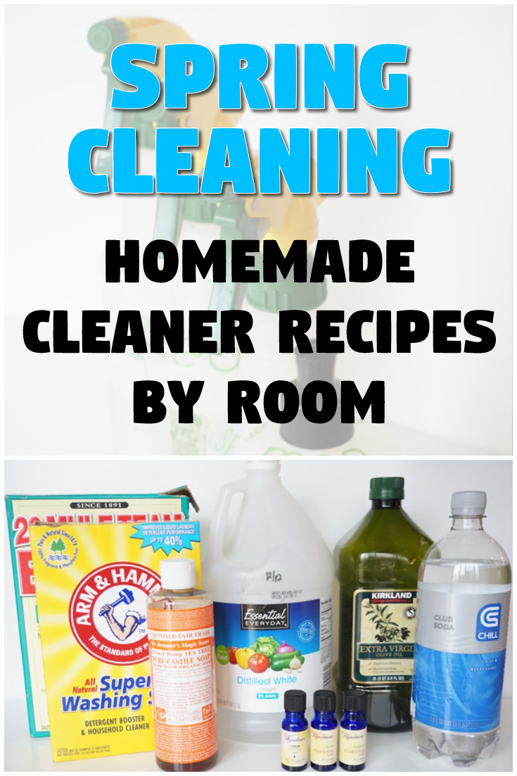 Spring Cleaning: Homemade Cleaner Recipes by Room