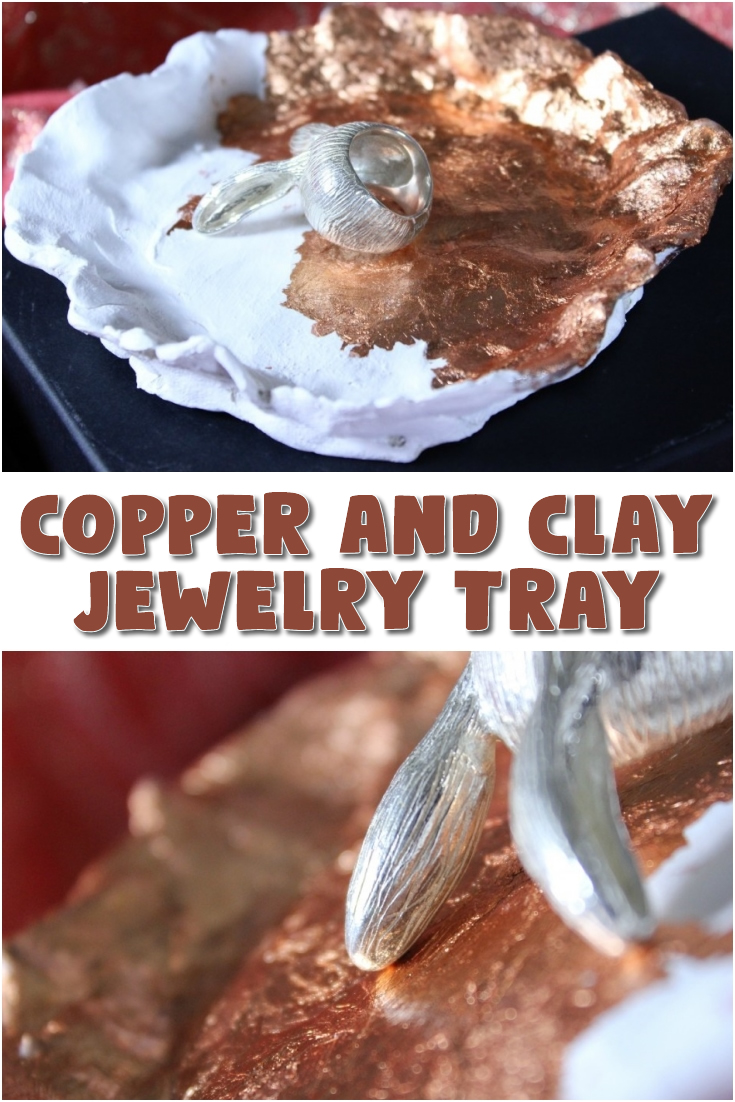 Copper and Clay Jewelry Tray