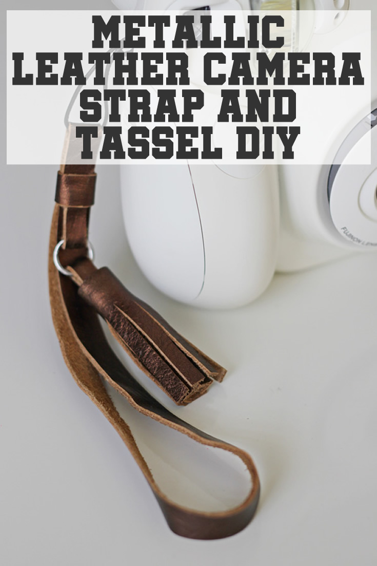 Metallic leather camera strap and tassel diy