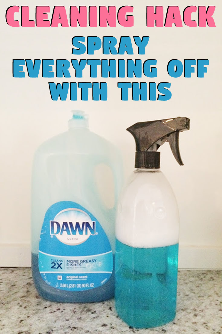 Cleaning hack – Spray everything off with this