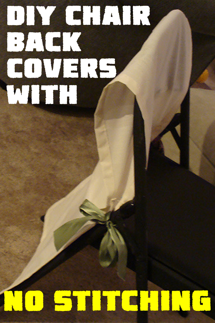 DIY Chair Back Covers with no Stitching