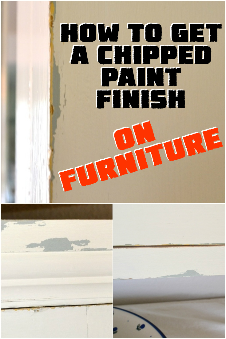 How To Get a Chipped Paint Finish
