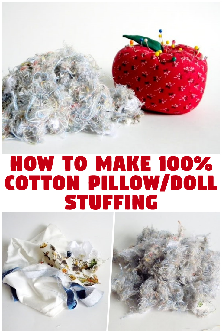 How To Make 100% Cotton Pillow/Doll Stuffing