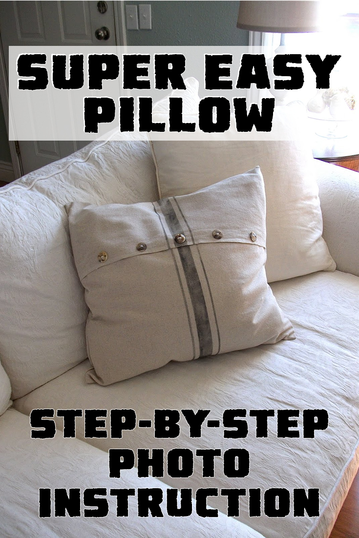 Super Easy Pillow – Step-by-Step Photo Instruction