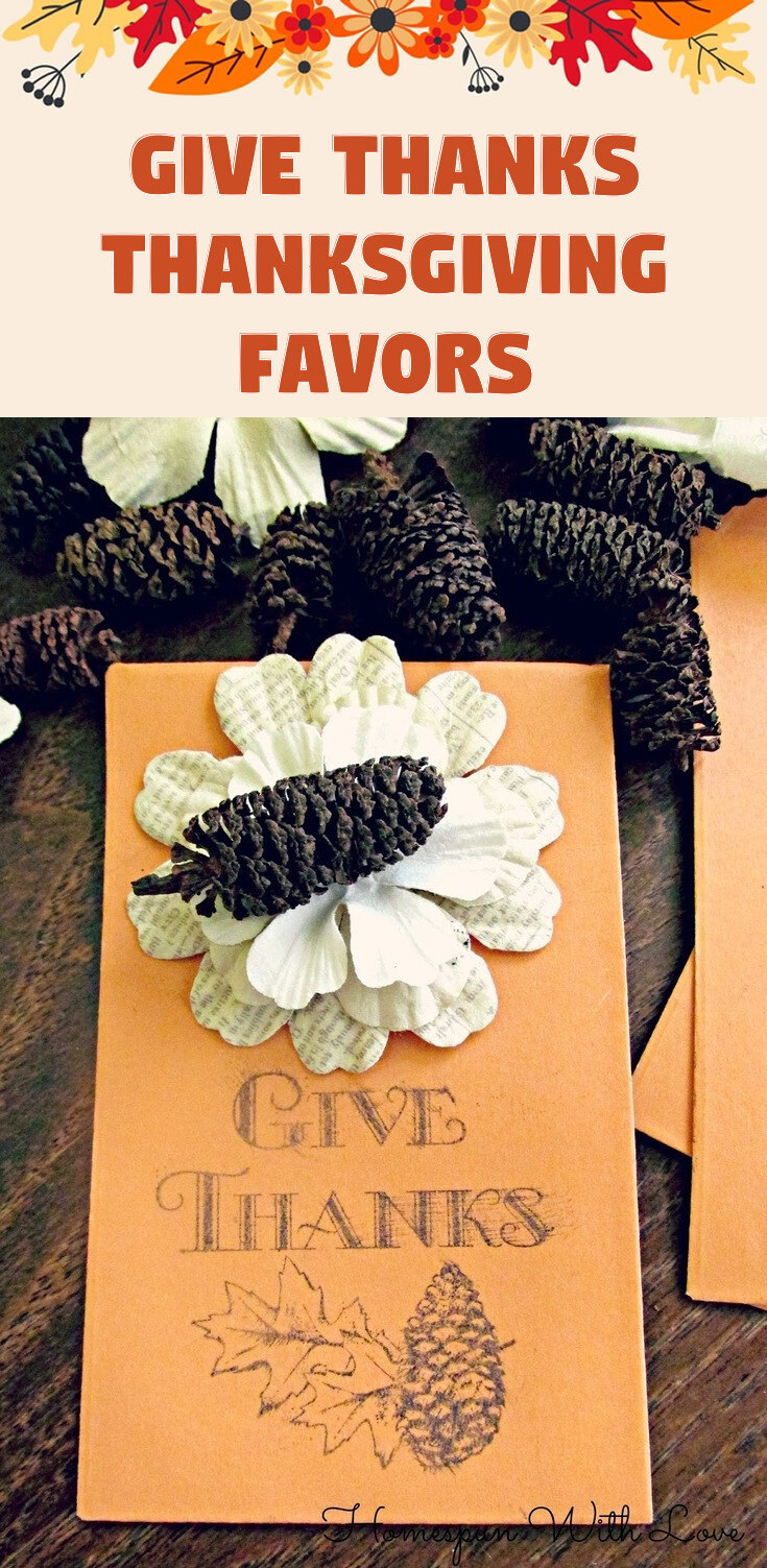 Give Thanks Thanksgiving Favors
