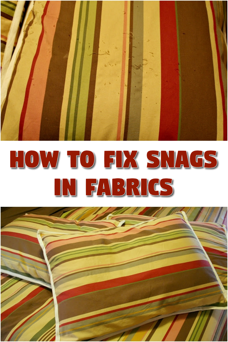 How to fix snags in fabrics