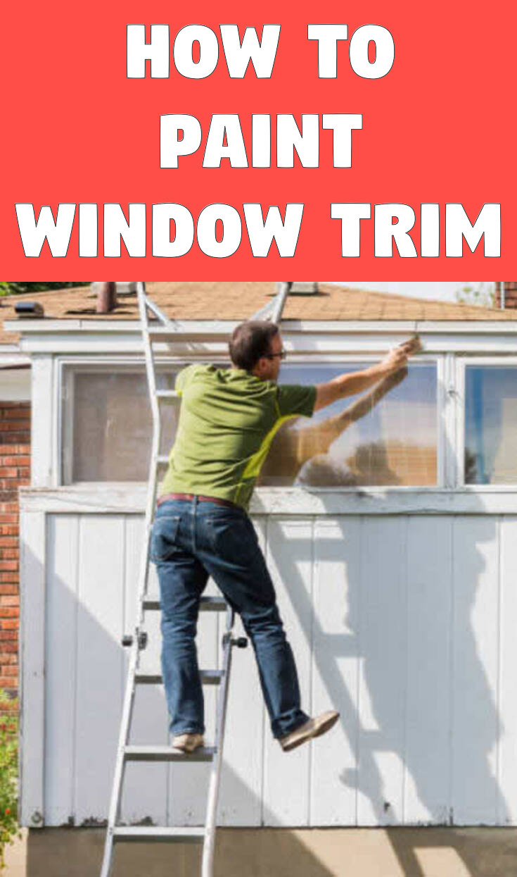 How to paint window trim