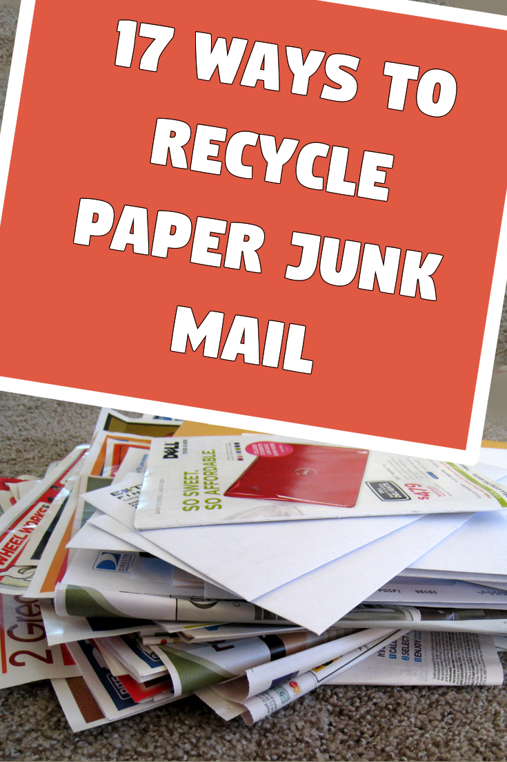 17 ways to recycle paper junk mail