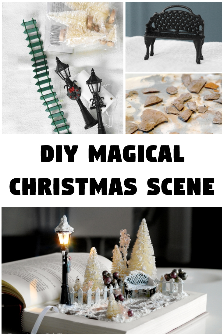 DIY magical Christmas scene